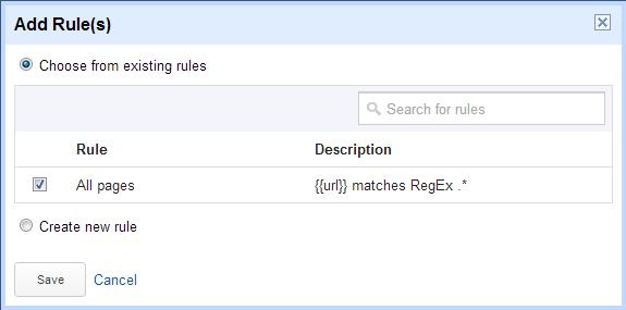 Auswahl der URL für die Code Ausführung
