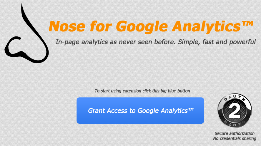 Nose Authentifikation für Google Analytics