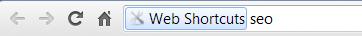 Web Shortcuts Anzeige
