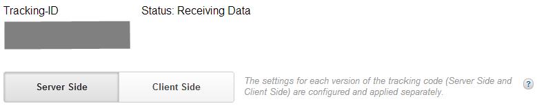 Das neue Auswahlmenü für den Server seitigen und Client seitigen Code