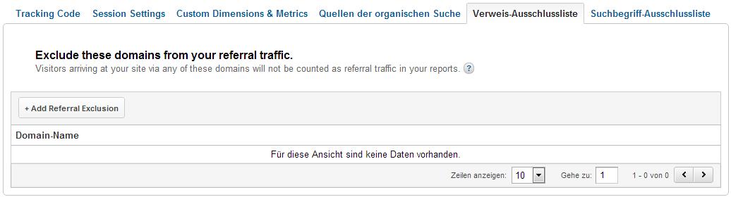 Verweisende Webseiten als Direkten Traffic messen