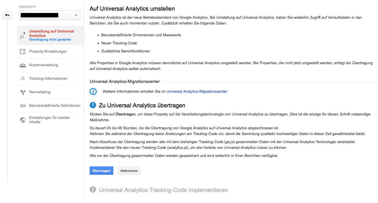 Das neue Universal Analytics Migrations Center