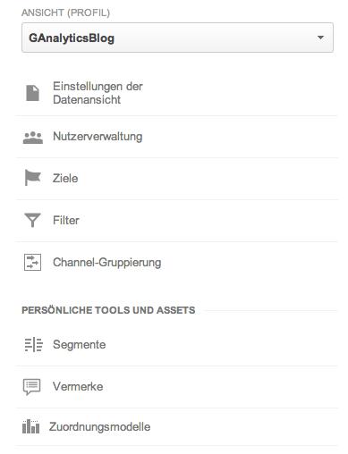Die Einrichtung der Ziele in der Google Analytics Verwaltung