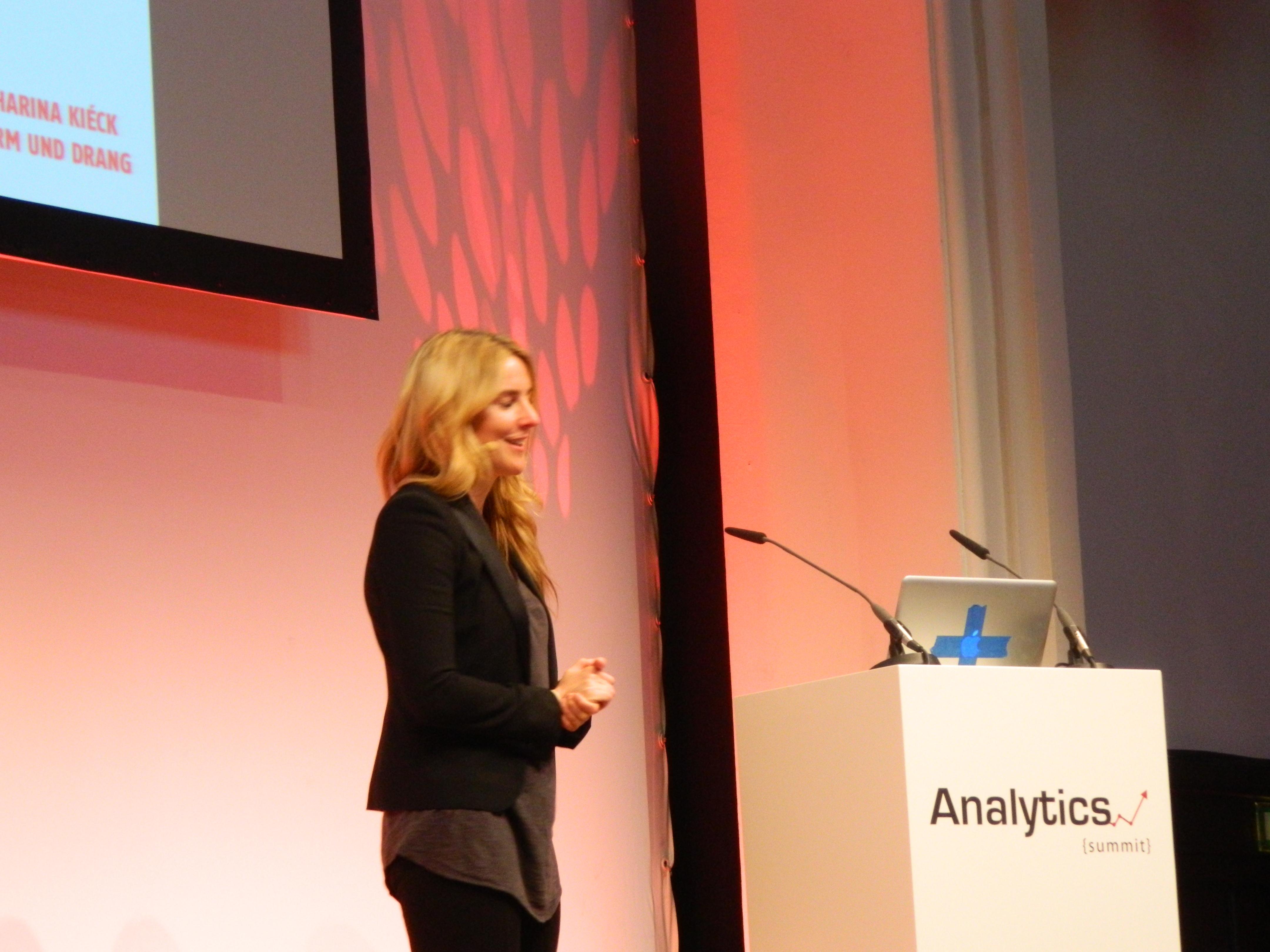 Katharina Kieck bei ihrem Vortrag Future Trends